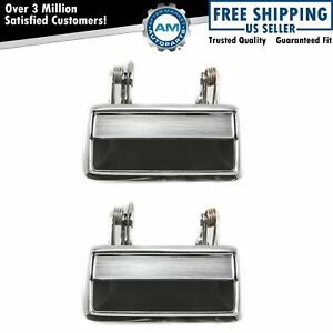 Outer Outside Exterior Metal Door Handles Pair Set Of 2 For Ford Lincoln New