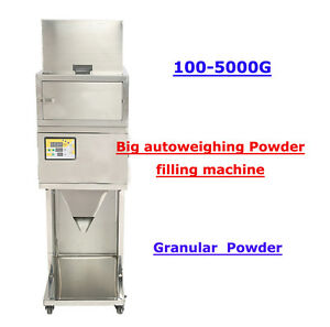 100 5000g Powder Filling Machine Filler Automatic Weighing Seeds Peanuts Cashews