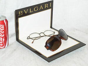 New Bvlgari Eyewear Eyeglass Retail Store Advertising Display Stand Shelf Usa