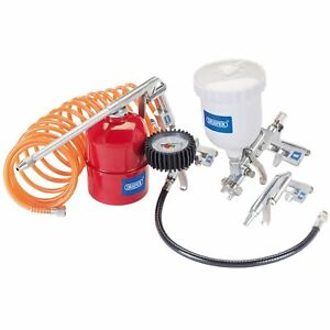 Draper 5 Piece Spraying Inflating Cleaning Compressor Air Tool Gun Kit 81508