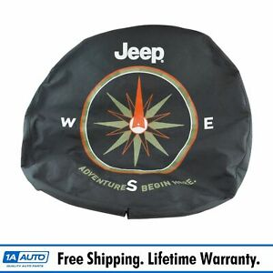 Oem Spare Tire Cover W Adventure Begins Logo For Jeep Wrangler 17 18 Wheel