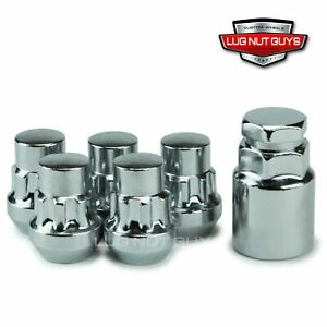 Lug Wheel Lock Nuts 1 2 20 Bulge Acorn Locking Set For Jeep With Outside Spare