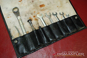 Porsche 911 964 Carrera 89 94 Tool Kit 9 Pieces Leather Tool Bag Factory Oem