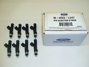 8 Ford Racing Bosch 47lb 47 Fuel Injectors 2015 17 Mustang Gt 5 0 Coyote S550