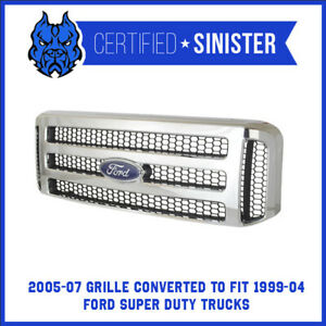 Ford Chrome 05 07 Super Duty Excursion Grille Fits 99 04