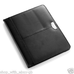 Real Leather A4 Conference Folder Unzipped 100 Bonded Leather Brand New
