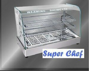 New Heated Food Display Warmer Cabinet Case 3 Ft S s