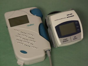 Sonotrax Basic Fetal Heart Doppler 3mhz W bonus Digital Blood Pressure Monitor