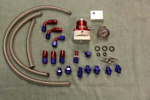 Red Fuel Pressure Regulator Kit Toyota Honda Ls1 2jz V8 Turbo Supercharger An 6