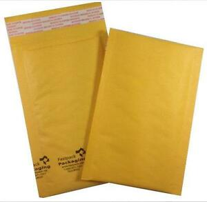 250 000 Kraft Self Seal 4x8 Bubble Envelopes Mailers Free Shipping Padded Small