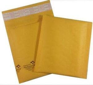 Case Of 500 mini 4x5 Self Seal Kraft Bubble Mailers Envelopes Padded Smallest