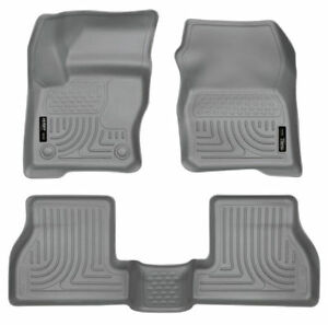 Husky Liners Front 2nd Seat Floor Liners For 2012 2015 Ford Focus Grey