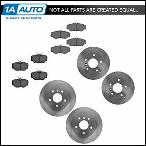 Nakamoto Front Rear Ceramic Brake Pad And Rotor Kit For Land Rover Discovery