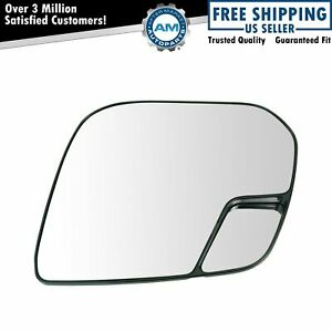 Power Heated Mirror Glass With Backing Plate Driver Side Lh For Gm Pickup Truck