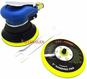 5 Air Grip Random Orbital Palm Sander 9000rpm Extra 5 Pad For Sticky Paper