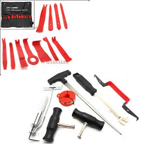 11pc Interior Wedge Installer Pry Tool 7pc Auto Windshield Glass Removal Set