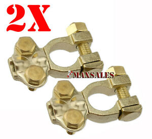 2 Solid Brass Top Post Battery Terminal 1ga 6ga Battery Wire Automotive Tools
