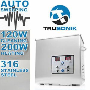 Trusonik Stainless Steel 2 5l Heated Ultrasonic Cleaner Heater Timer Jewelry 3