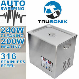 New Stainless Steel 10l Liter Industry Heated Ultrasonic Cleaner Heater Timer Y