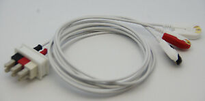 Ecg Ekg 3 Leads Aa Style Leads Wire Grab Pinch Clip Head For Philips H p Viridia