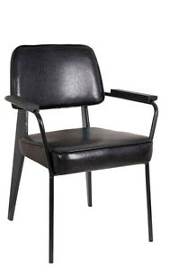 Lot Of 20 Metal Black Vinyl Back And Seat Restaurant Arm Chair