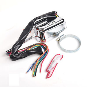 12v Universal Street Hot Rod Chrome Turn Signal Switch For Ford Gm Buick Vw