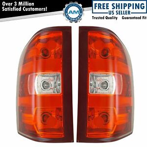Taillights Taillamps Brake Light Lh Rh Pair Set For Chevy Silverado Gmc Sierra