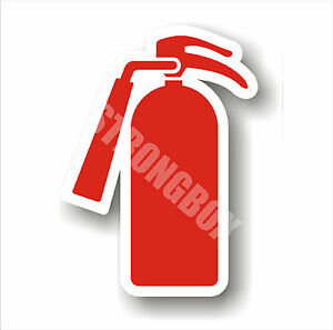 Industrial Safety Decal Sticker Fire Extinguisher Inside Graphic Only Label