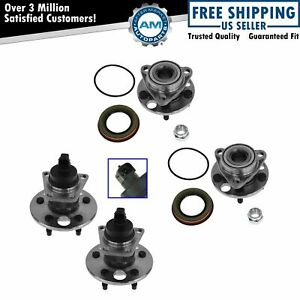 Front Rear Wheel Hub Bearing Kit Set Of 4 For Buick Chevy Olds Pontiac