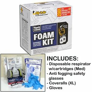 Touch n Seal U2 200 Fr Spray Foam Insulation Kit 200bf W protective Gear reg