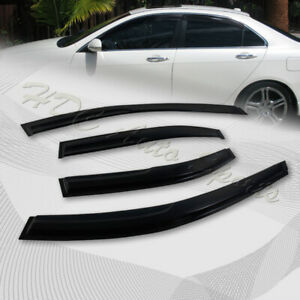 For 2004 2008 Acura Tsx Smoke Acrylic Weather Shield Guard Door Window Visor