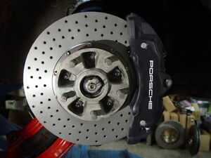 Porsche 911 Big Brake Kit For Narrow Body Using Cayenne Black Z17 Brake Calipers