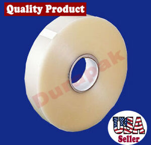 6 Rolls 2 Mil 2 x1000 Yard Clear Machine Use Carton Box Sealing Packaging Tape