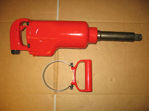Pneumatic 1 Square Drive Impact Wrench With 6 Extended Anvil