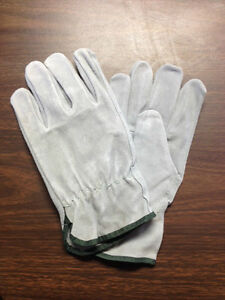 120 Pair X large Standard Split Leather Cowhide Drivers Work Gloves New Mens Xl