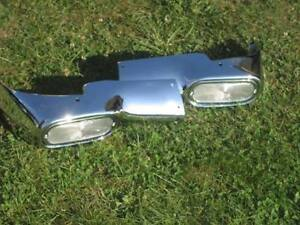 1954 Chevy New Grill Park Light Housing Set Complete With Bucket Bezels Lens