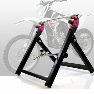 Foldable Motorcycle Stand Wheel Balancer Truing Check True Balancing Mx Street