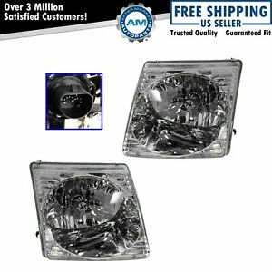 Headlights Headlamps Pair Set For Ford Explorer Sport Trac Sport