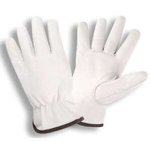 Medium Premium Goatskin Leather Drivers Gloves Keystone Thumb 12 Total Pair