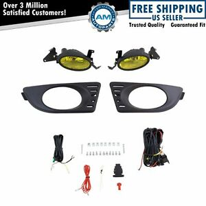 Add On Upgrade Yellow Lens Fog Light Bulb Switch Wiring Kit Set For Acura Rsx