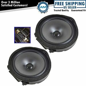 Oem Front Door Speaker Assembly Pair Driver Passenger Set For Honda Civic New