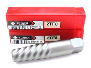 Lot Of 2 Nib Cleveland Twist Drill C53658 13 16 4 375 Length Ezy out