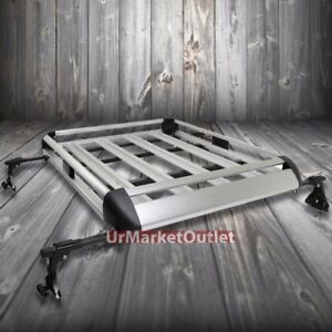 50 x31 Silver Aluminum Roof Rack Cargo Luggage Carrier Bracket crossbar For Suv