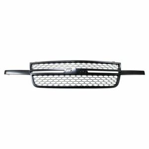 For 2006 2007 Chevy Silverado Pickup Truck Ss Style Grille Assembly Black New