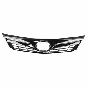 Front Upper Chrome Dark Gray Grill Grille Assembly For Toyota Camry Le Xle New