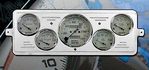 39 Chevy Car Dash Insert W 1601 Auto Meter Gauges