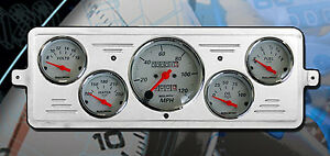 39 Chevy Car Dash Insert W 1300 Auto Meter Gauges