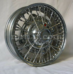 Fiat 600 850 Handmade Borrani 4 X 12 Wire Wheel New