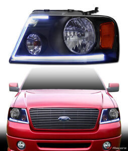 lumen Optics For 2004 2008 Ford F150 Led Bar Black Headlights Signal Amber