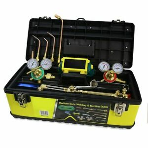 Industrial Oxygen Acetylene Welding Regulator Victor Style Duty Torch Toolbox